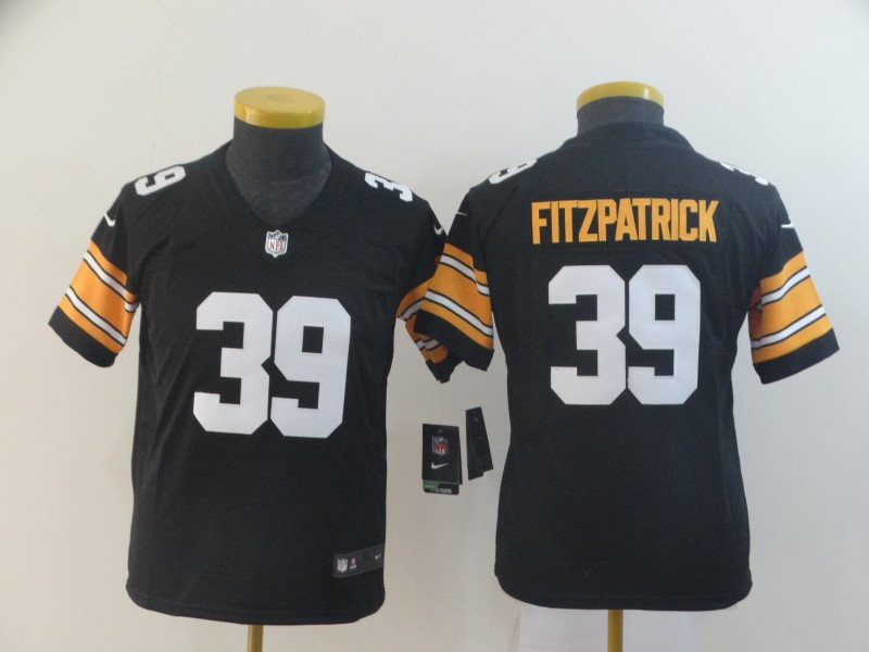 Nike Steelers 39 Minkah Fitzpatrick Black Alternate Youth Vapor Untouchable Limited Jersey