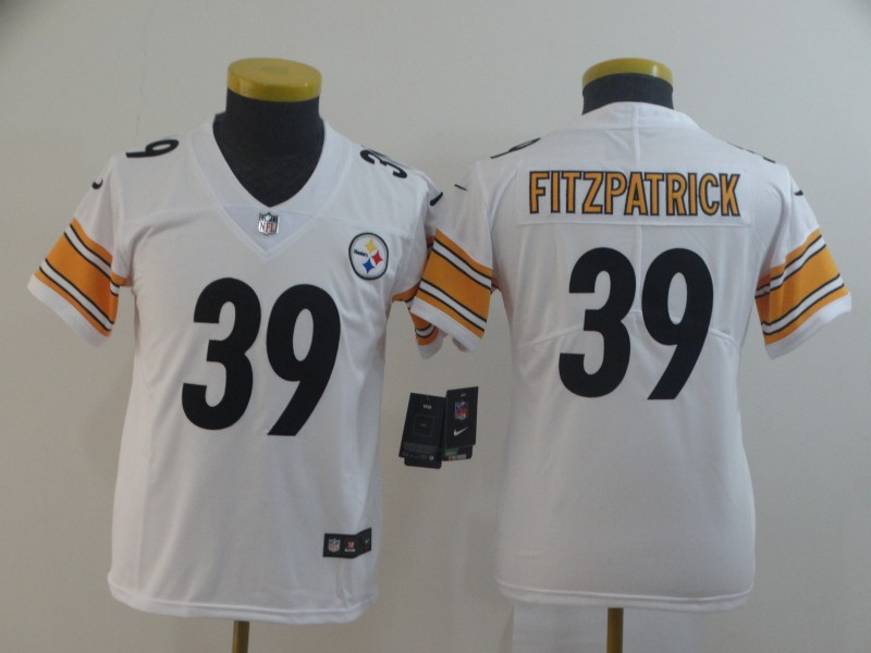 Nike Steelers 39 Minkah Fitzpatrick White Youth Vapor Untouchable Limited Jersey