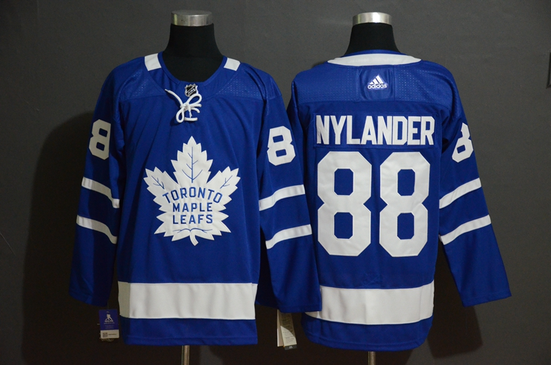 Maple Leafs 88 William Nylander Blue Adidas Jersey