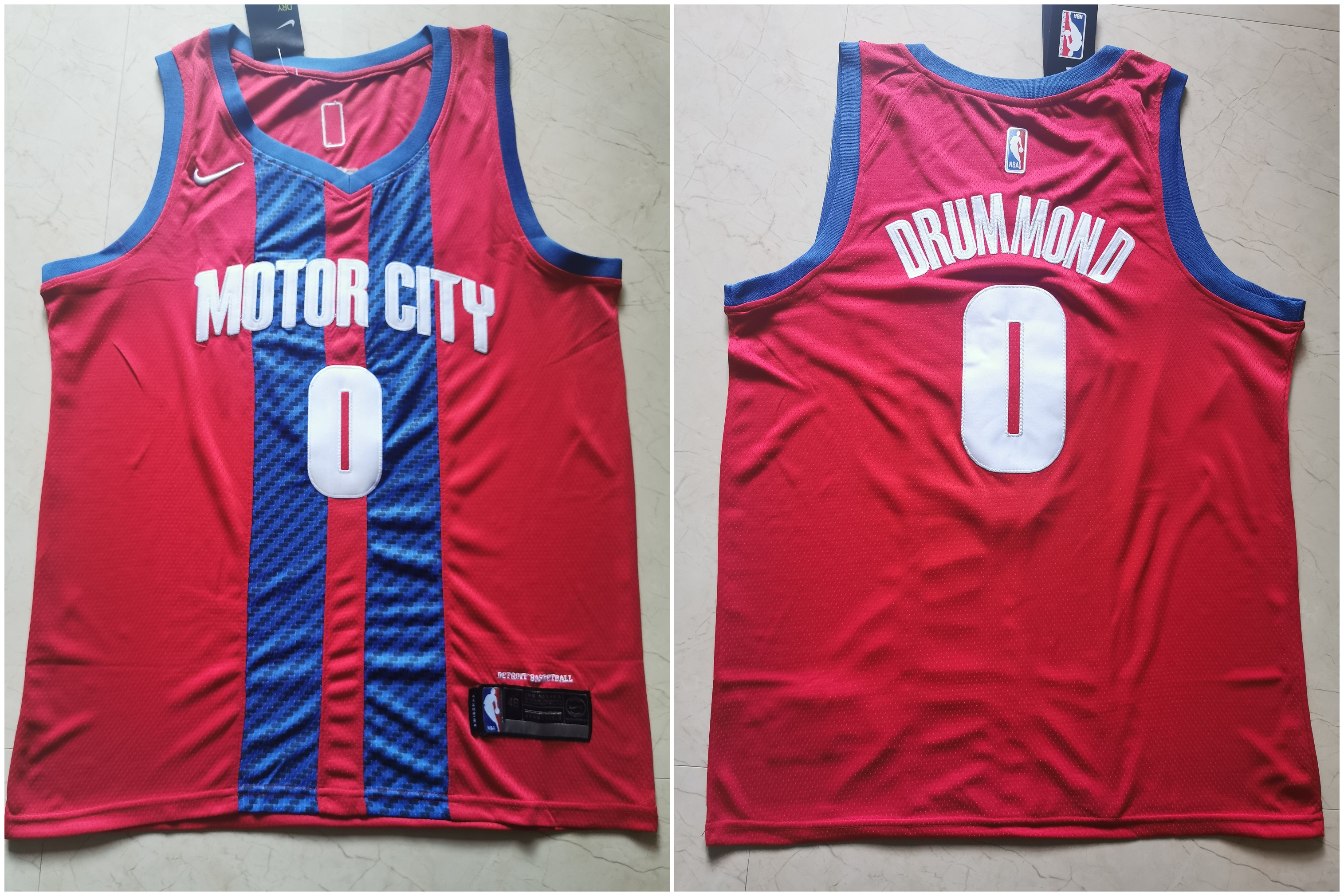 Pistons 0 Andre Drummond Red 2019-20 City Edition Nike Swingman Jersey