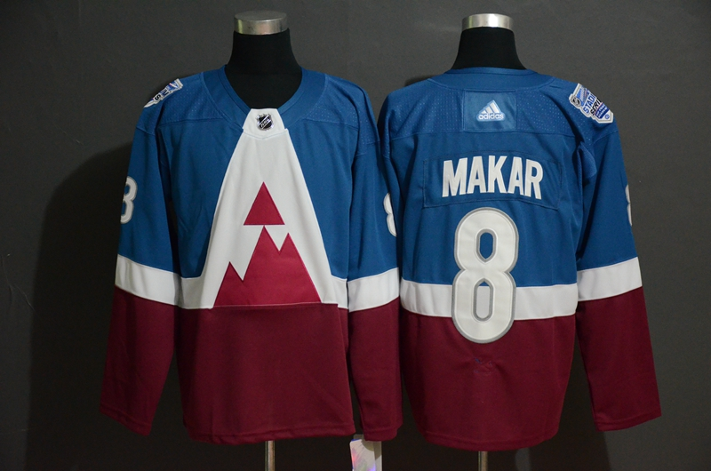 Avalanche 8 Cale Makar Blue Red 2020 NHL Stadium Series Adidas Jersey