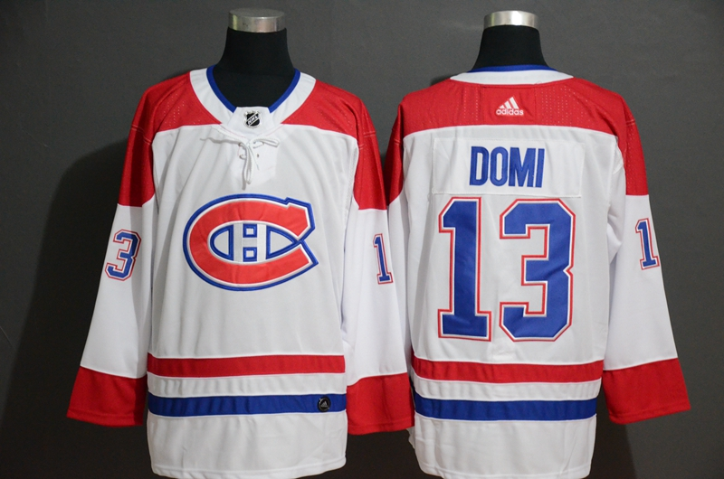 Canadiens 13 Max Domi White Adidas Jersey