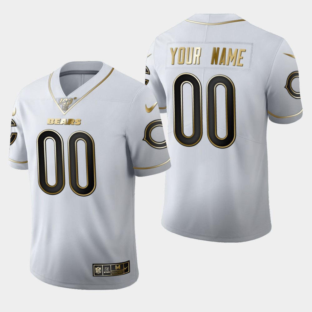 Nike Bears Customized White 100th Season Vapor Untouchable Limited Jersey