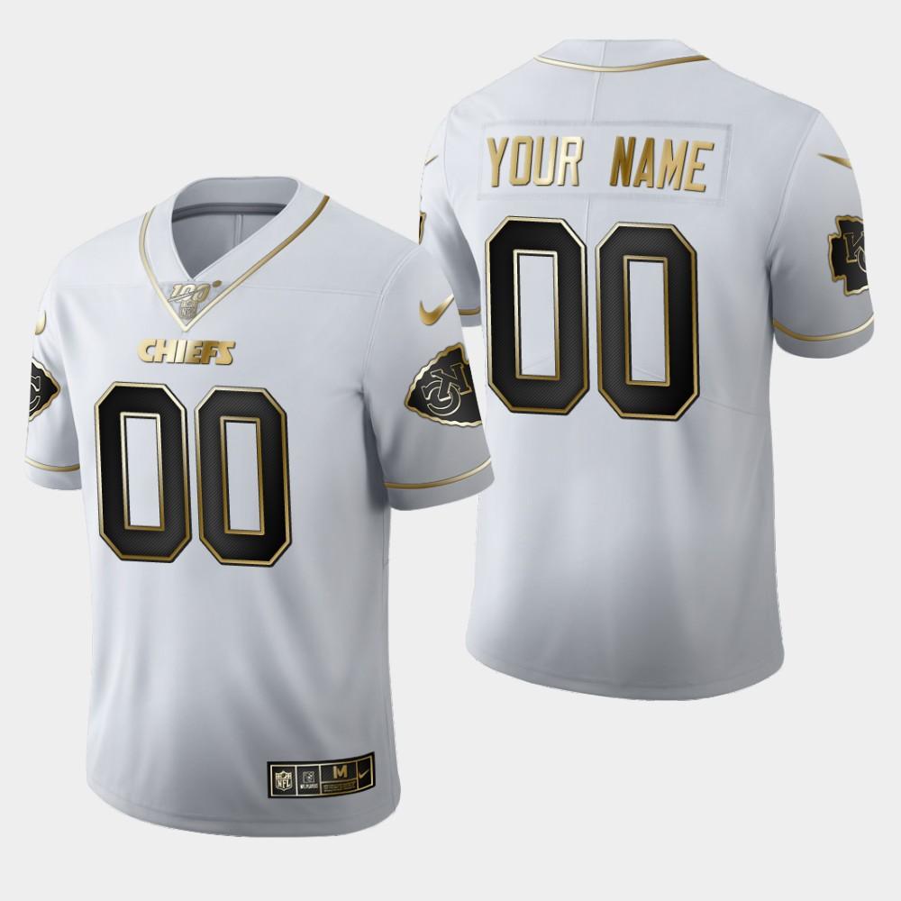 Nike Chiefs Customized White 100th Season Vapor Untouchable Limited Jersey