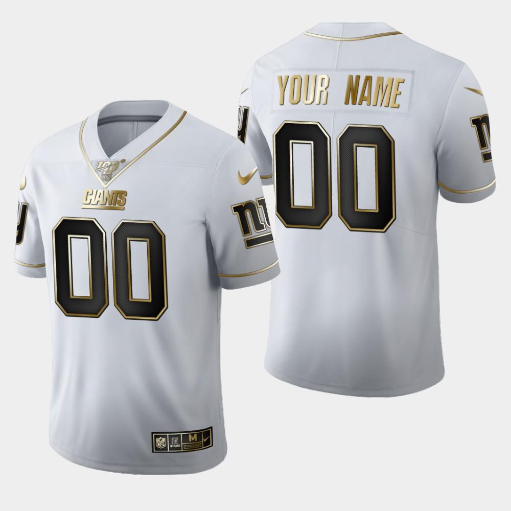 Nike Giants Customized White 100th Season Vapor Untouchable Limited Jersey
