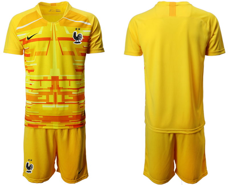 France Yellow Goalkeeper UEFA Euro 2020 Soccer Jersey