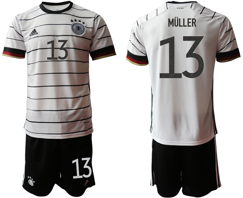 Germany 13 MULLER Home UEFA Euro 2020 Soccer Jersey