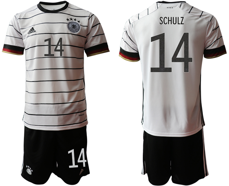Germany 14 SCHULZ Home UEFA Euro 2020 Soccer Jersey