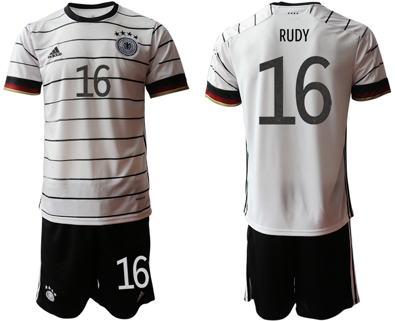 Germany 16 RUDY Home UEFA Euro 2020 Soccer Jersey