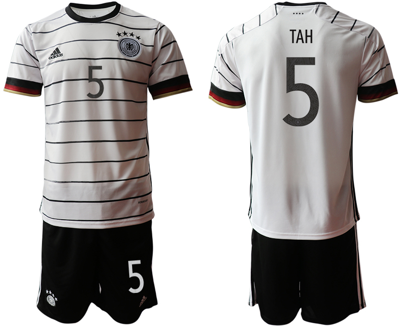 Germany 5 TAH Home UEFA Euro 2020 Soccer Jersey