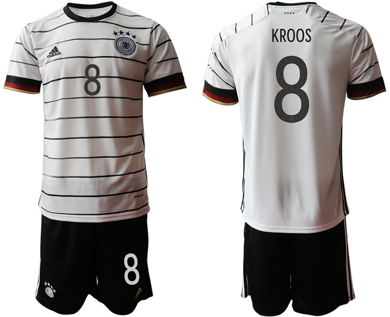 Germany 8 KROOS Home UEFA Euro 2020 Soccer Jersey