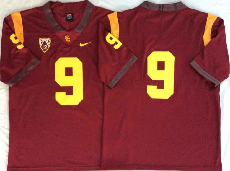 USC Trojans 9 Red College Football Jersey