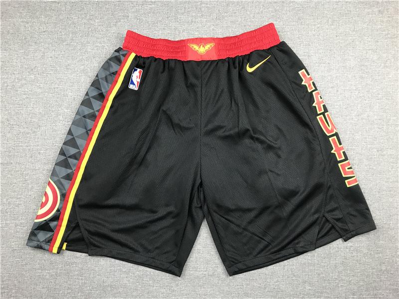 Hawks Black Nike Swingman Shorts