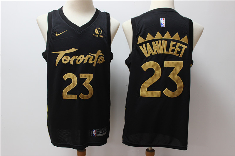 Raptors 23 Fred Vanvleet Black 2019-20 City Edition Nike Swingman Jersey