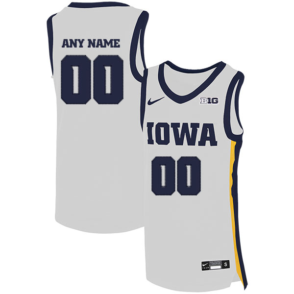 Iowa Hawkeyes Customized White Nike Basketball College Jersey