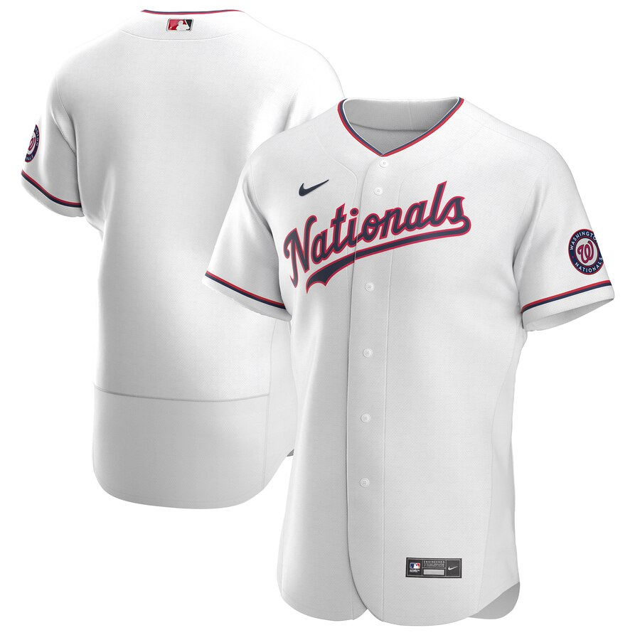 Nationals Blank White Nike 2020 Flexbase Jersey