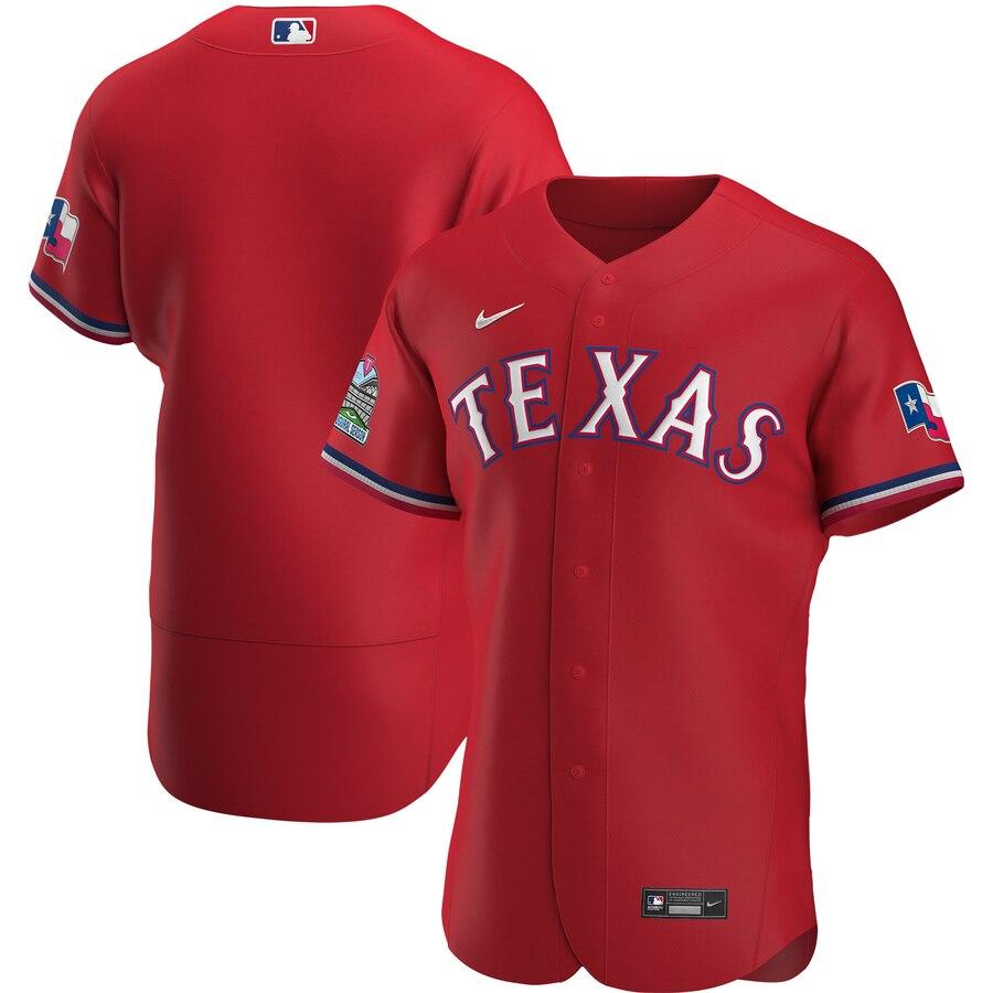 Rangers Blank Red Nike 2020 Flexbase Jersey