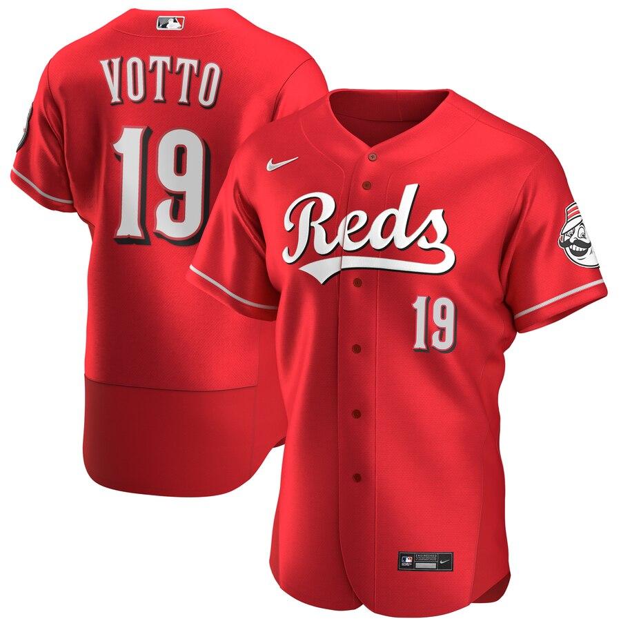 Reds 19 Joey Votto Red Nike 2020 Flexbase Jersey