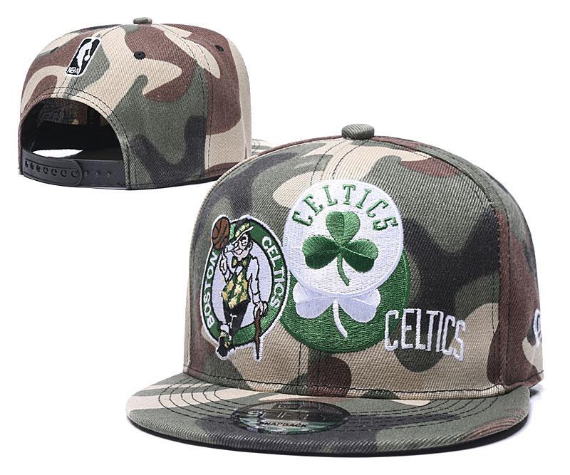 Celtics Team Logo Camo Adjustable Hat LH