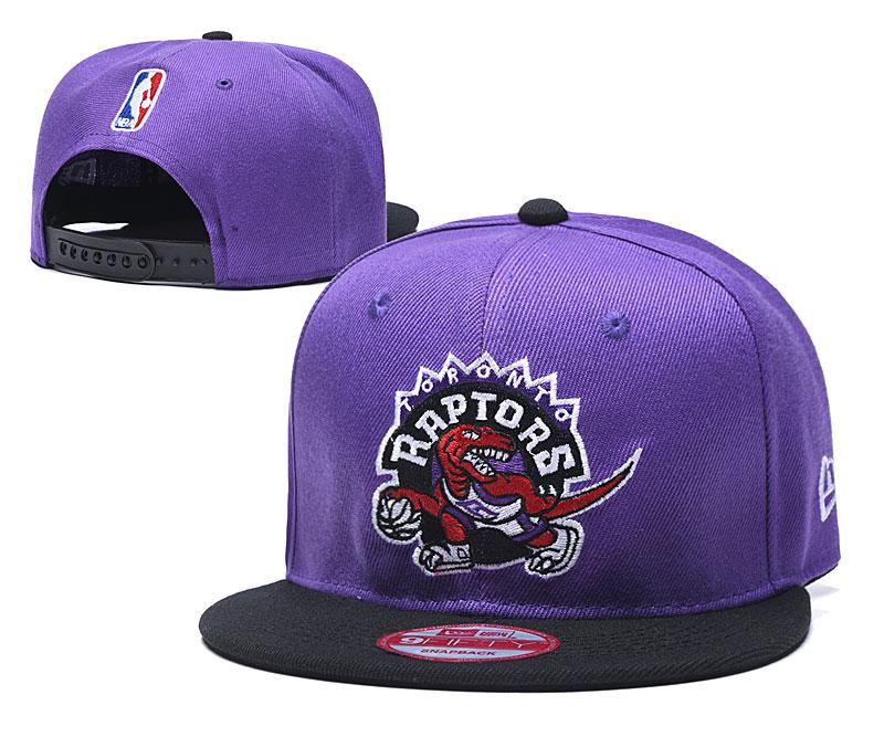 Raptors Team Logo Purple Adjustable Hat LH
