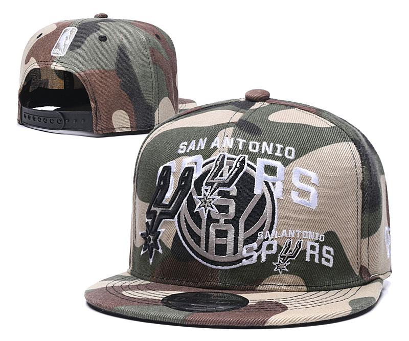 Spurs Team Logo Camo Adjustable Hat LH