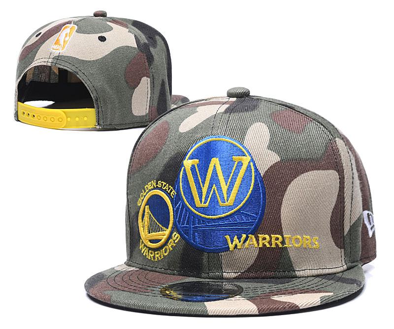 Warriors Team Logo Camo Adjustable Hat LH