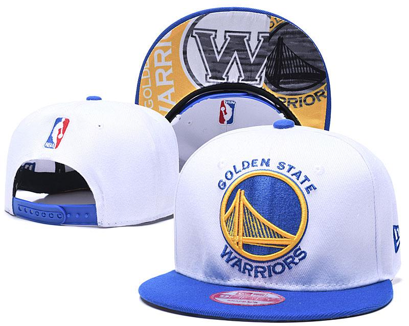 Warriors Team Logo White Adjustable Hat LH