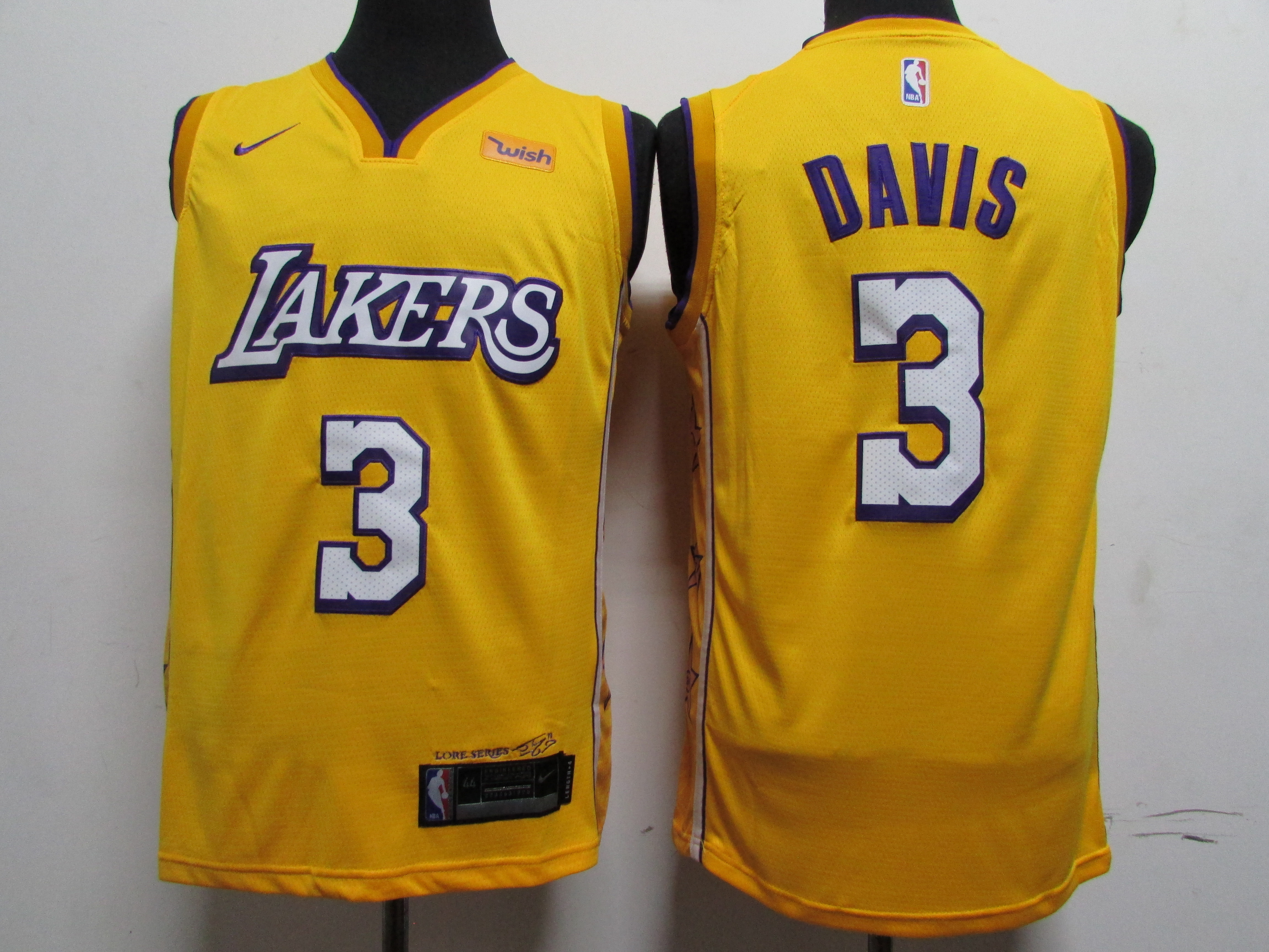 Lakers 3 Anthony Davis Yellow 2019-20 Nike City Edition Swingman Jersey