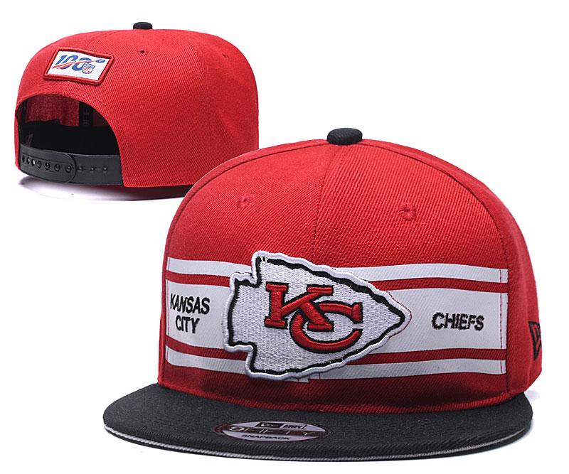Chiefs Team Logo Red 100th Seanson Adjustable Hat YD