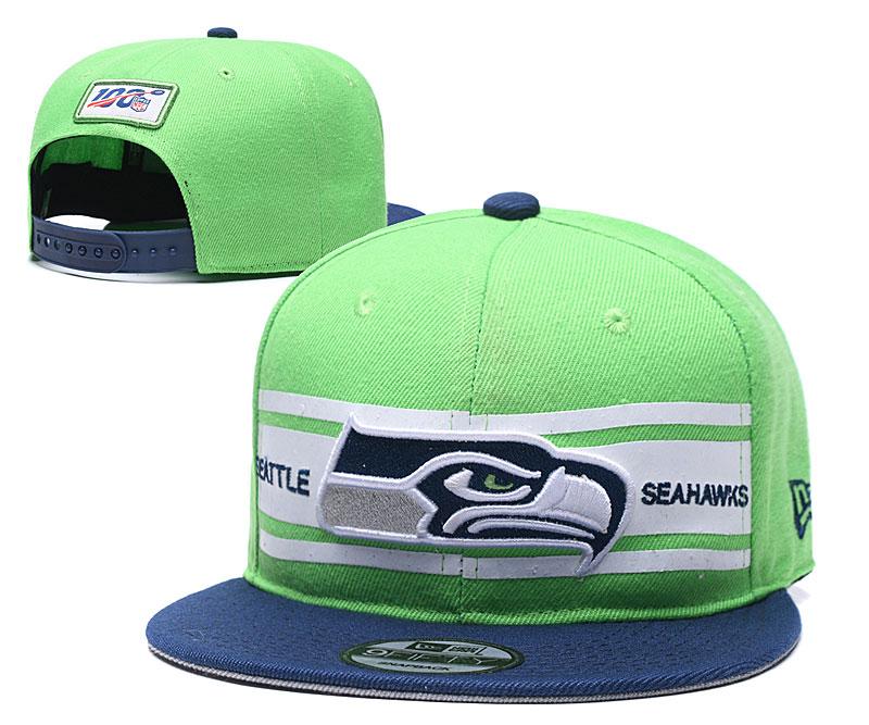 Seahawks Team Logo Green 100th Seanson Adjustable Hat YD