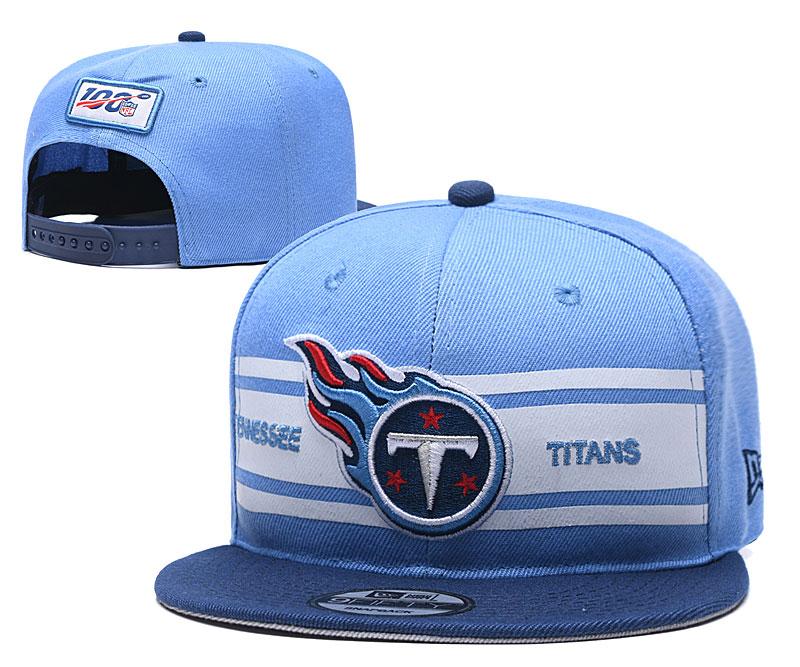 Titans Team Logo Blue 100th Seanson Adjustable Hat YD