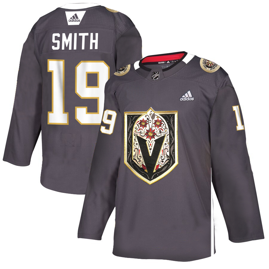 Vegas Golden Knights 19 Reilly Smith Gray Dia De Los Muertos Adidas Jersey