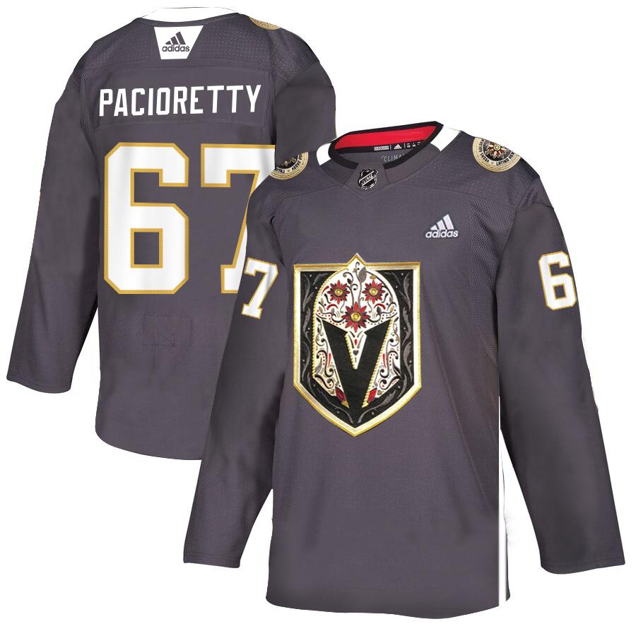 Vegas Golden Knights 67 Max Pacioretty Gray Dia De Los Muertos Adidas Jersey
