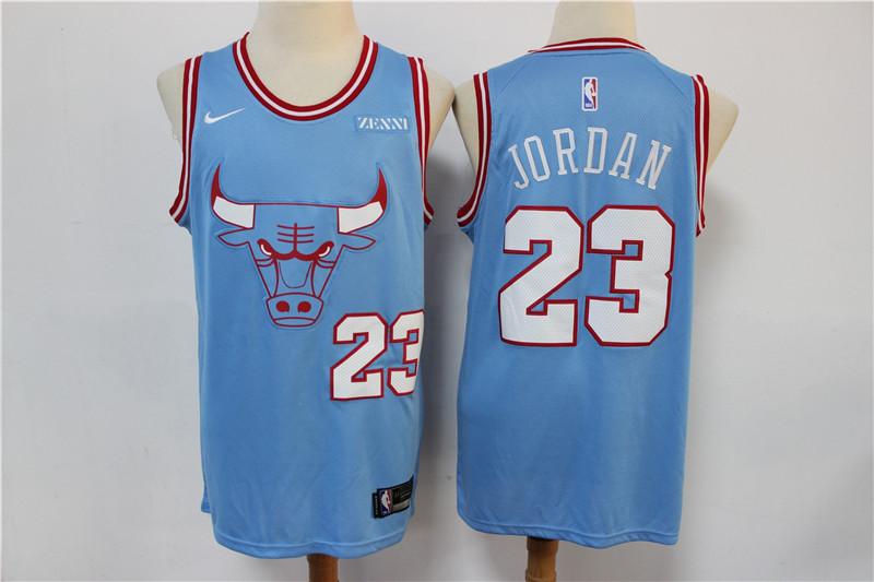 Bulls 23 Michael Jordan Light Blue 2019-20 City Edition Nike Swingman Jersey