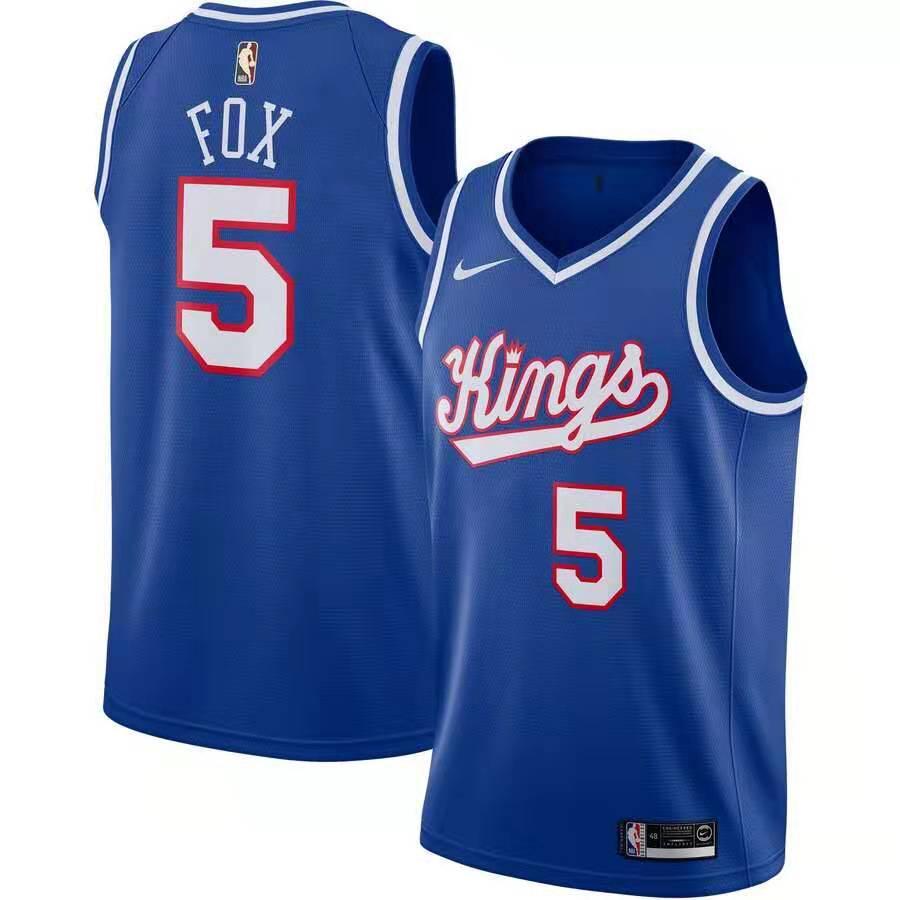 Kings 5 De'Aaron Fox Blue Nike Swingman Jersey