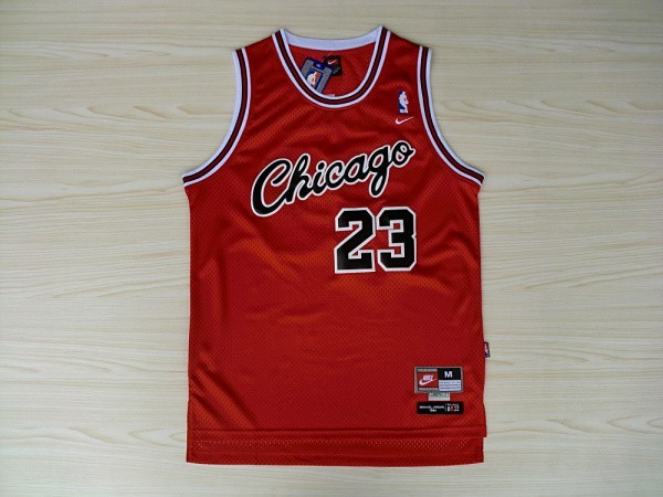 Bulls 23 Michael Jordan Red Nike Swingman Jerseys