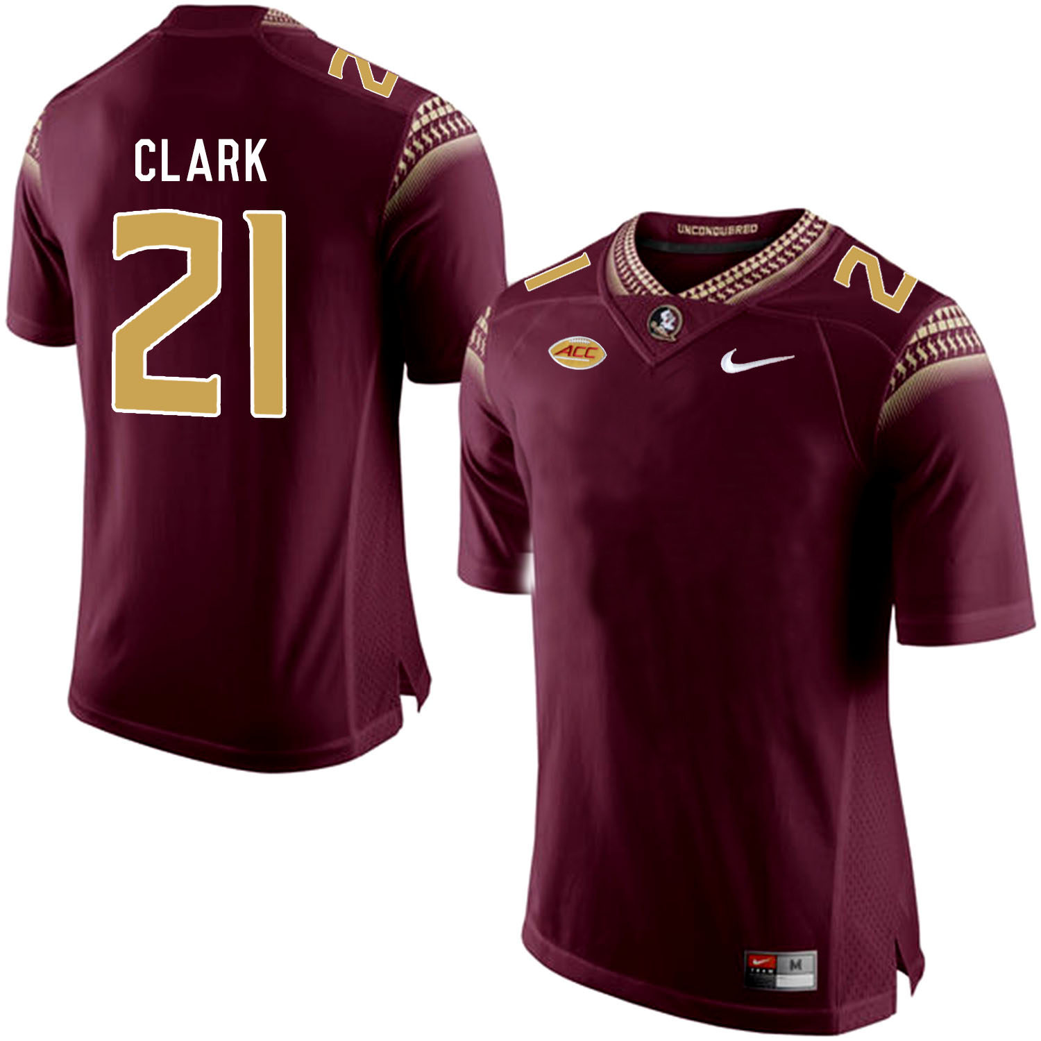 Florida State Seminoles 21 Corey Clark Black College Football Jersey