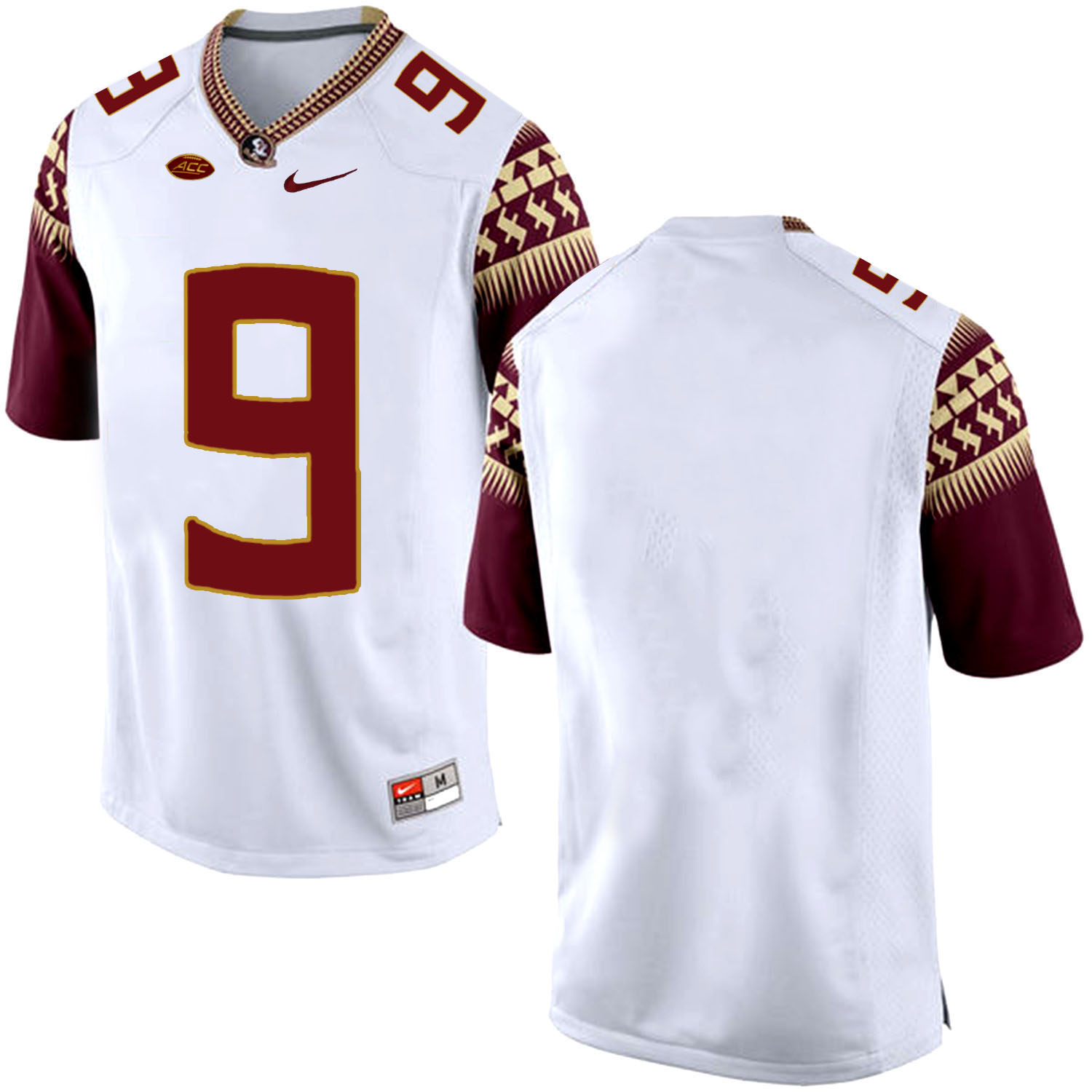 Florida State Seminoles 9 White College Football Jersey