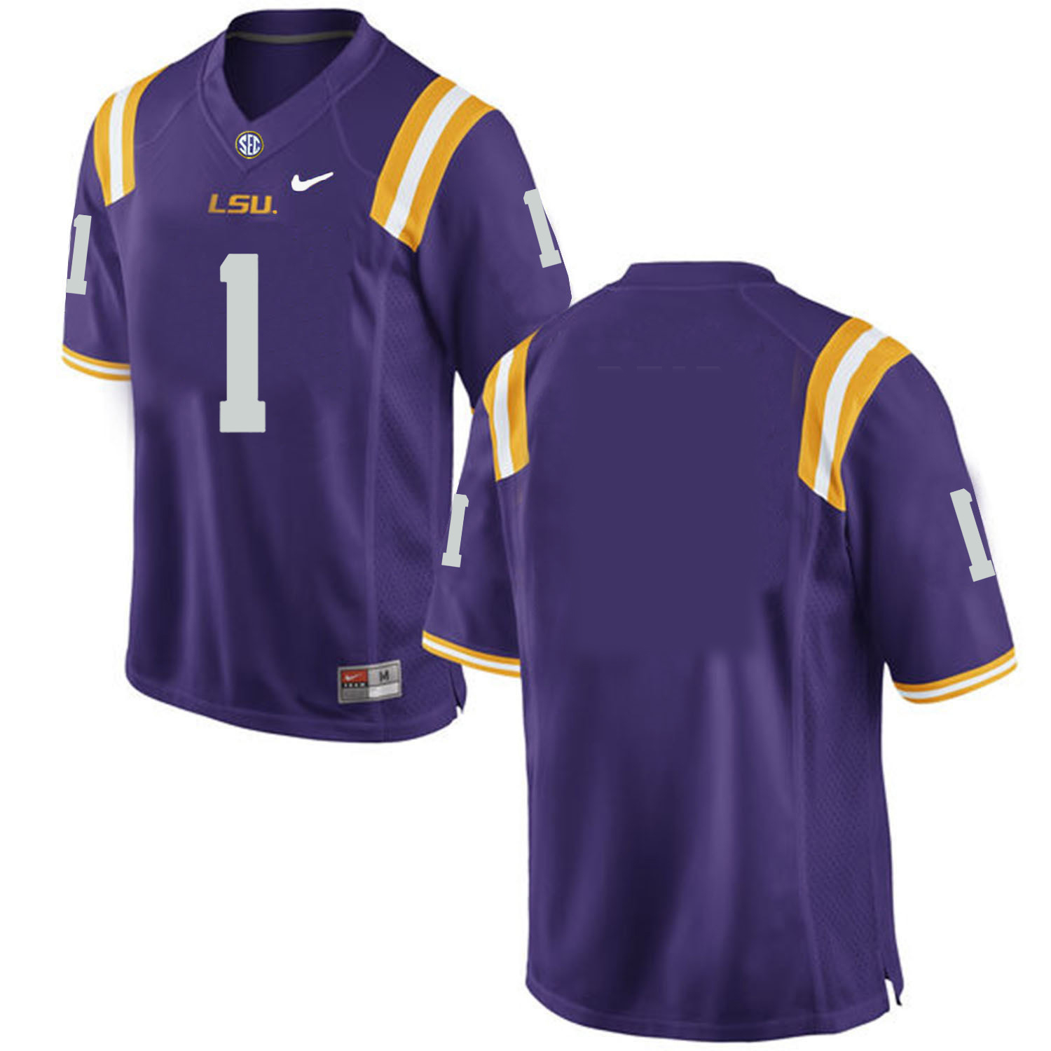 LSU Tigers #1 Purple Nike College Football Jersey