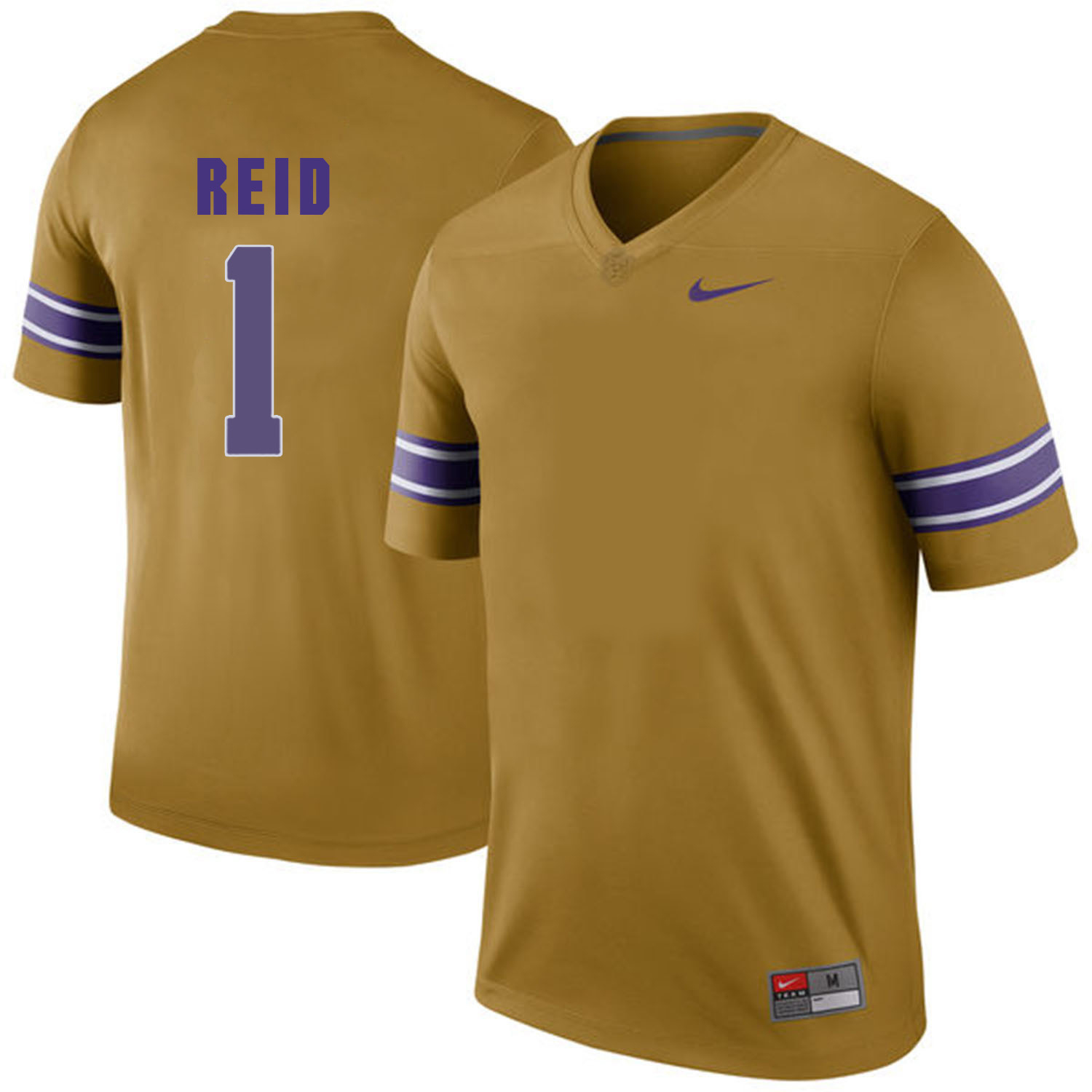 LSU Tigers #1 Yellow Nike College Football Jersey