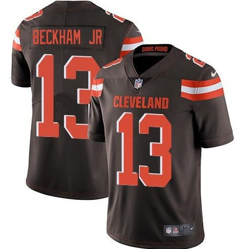 Nike Browns 13 Odell Beckham Jr Brown Vapor Untouchable Limited Jersey
