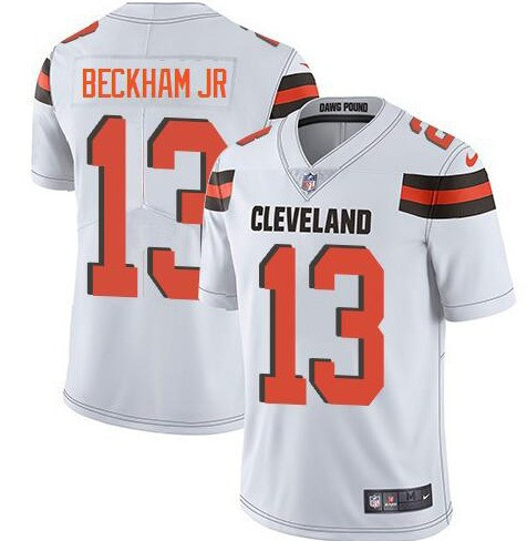 Nike Browns 13 Odell Beckham Jr White Vapor Untouchable Limited Jersey
