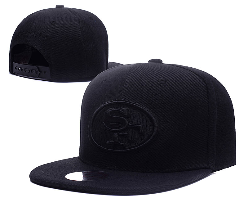 49ers Fresh Logo Black Adjustable Hat LH