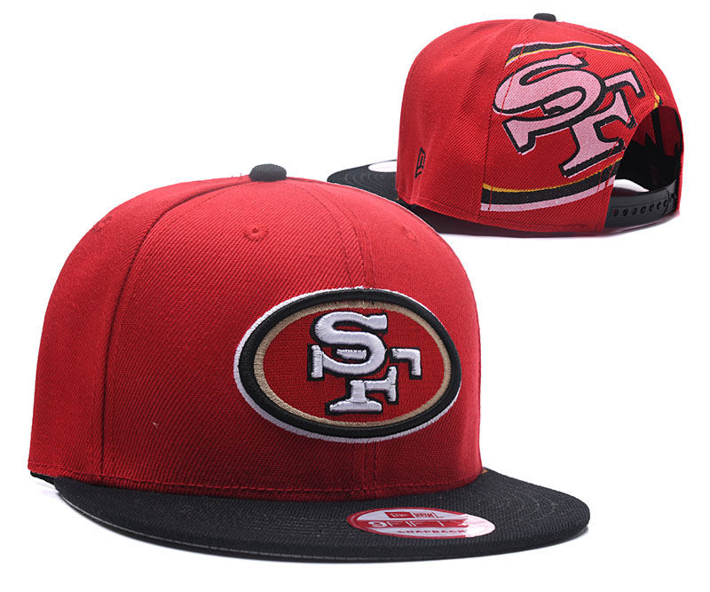 49ers Fresh Logo Red Adjustable Hat LH