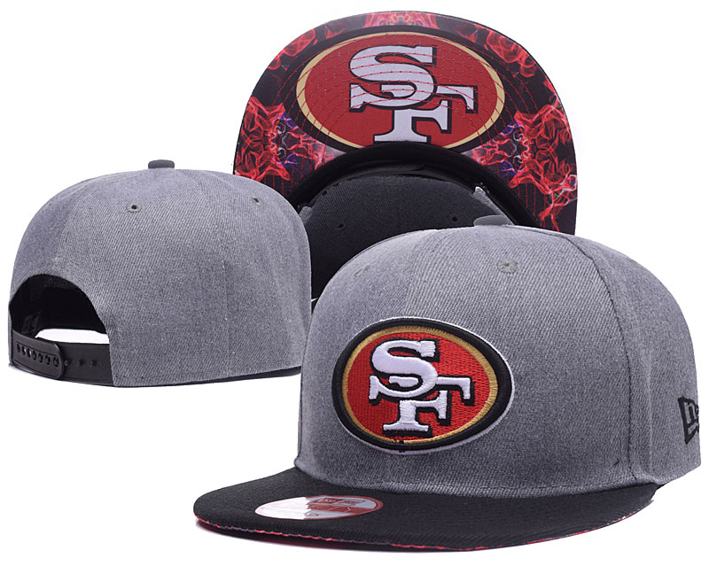 49ers Team Logo Gray Adjustable Hat LH