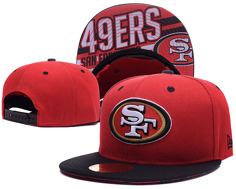49ers Team Logo Red Adjustable Hat LH