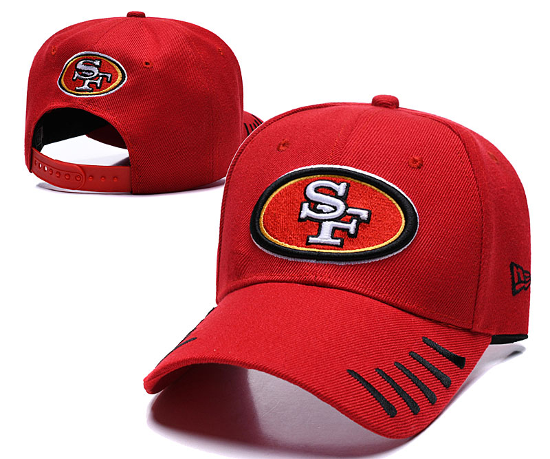 49ers Team Logo Red Peaked Adjustable Hat LH