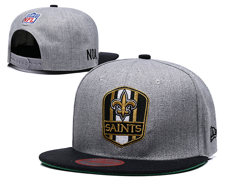 Saints Fresh Logo Gray Adjustable Hat LT