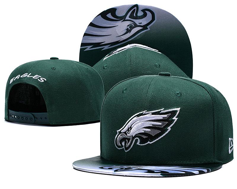 Eagles Fresh Big Logo Green Adjustable Hat TX