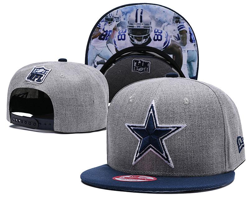 Cowboys Fresh Logo Gray Adjustable Hat TX